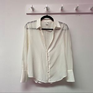 Tops - Button Up White Blouse